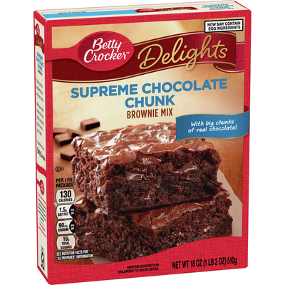 Betty Crocker Supreme Chocolate Chunk Brownie Mix