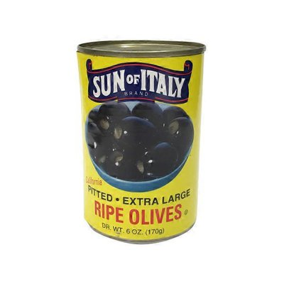 Sun Of Italy Pitted Ripe Olives
