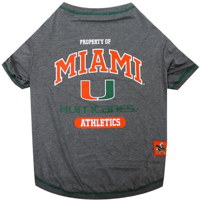 Pets First Extra Small Miami Hurricanes T-shirt