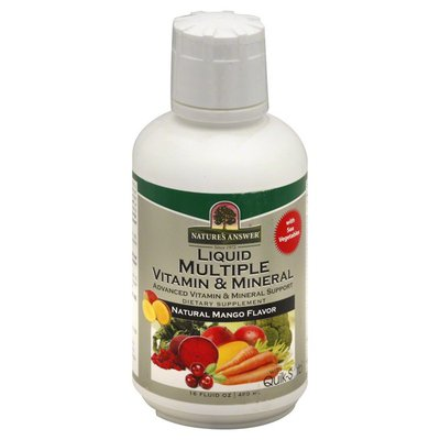 Nature's Answer Dietary Supplement, Liquid Multiple Vitamin & Mineral, Natural Mango Flavor, Bottle