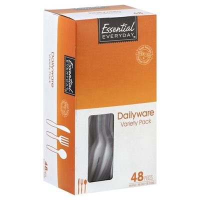 Essential Everyday Dailyware Knives Forks Spoons Variety Pack