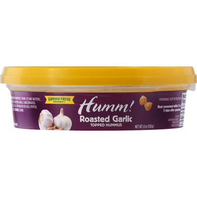 Garden Fresh Gourmet Topped Hummus, Roasted Garlic