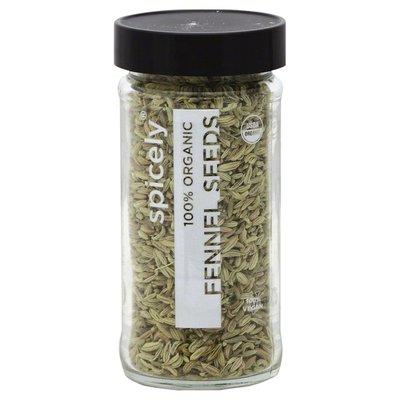 Spicely Organics Fennel Seeds, 100% Organic