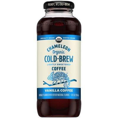Chameleon Organic Lightly Sweetened Vanilla Flavored Cold Brew Coffee