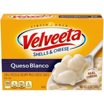 Kraft Velveeta Shells & Cheese Queso Blanco Shell Pasta & Cheese Sauce