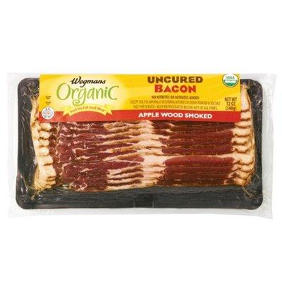 Wegmans Organic Food You Feel Good About Uncured Bacon, Apple Wood Smoked