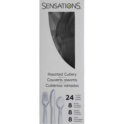 Sensations Cutlery, Clear, Plastic