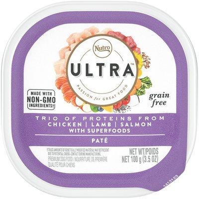 NUTRO Ultra Trio of Proteins from Chicken, Lamb, Salmon Paté Premium Dog Food