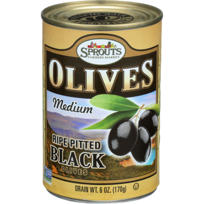 Sprouts Medium Ripe Black Olives