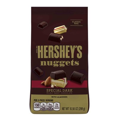 Hershey HERSHEY'S NUGGETS SPECIAL DARK Mildly Sweet Chocolate with Almonds