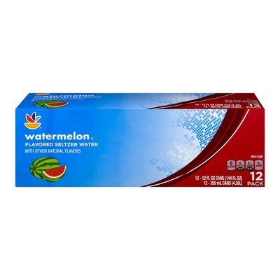SB Flavored Seltzer Water Watermelon - 12 PK