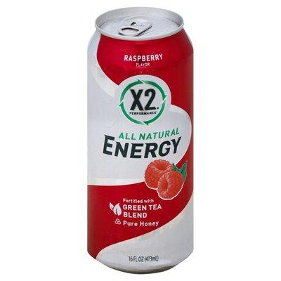 X2 Performance Energy Drink, Raspberry Flavor