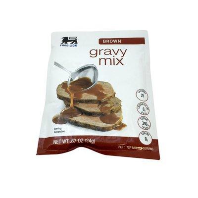 Food Lion Gravy Mix, Brown, Envelope
