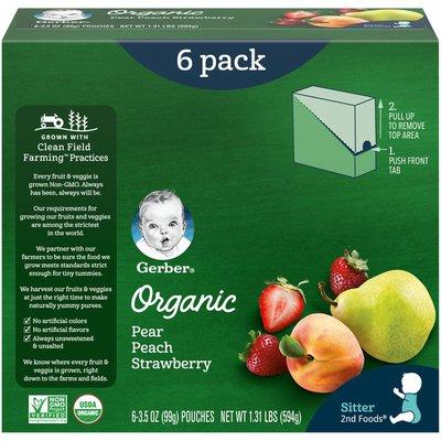 Gerber Organic Pear Peach Strawberry