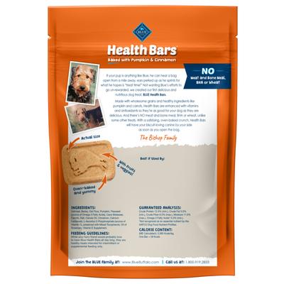 Blue Buffalo Health Bars Natural Crunchy Dog Treats Biscuits, Pumpkin & Cinnamon