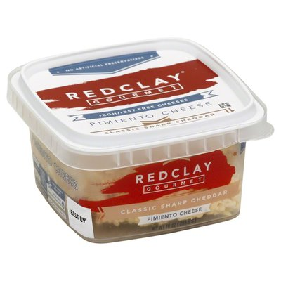 Redclay Gourmet Cheese, Pimiento, Classic Sharp Cheddar