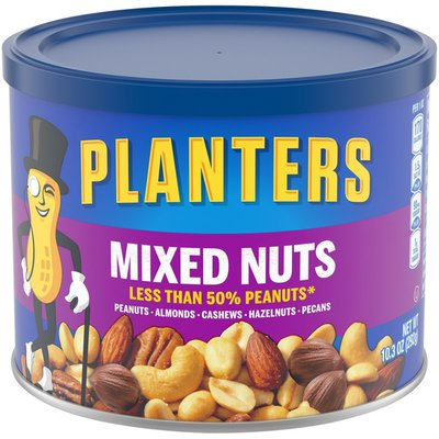 Planters Mixed Nuts Less Than 50% Peanuts with Peanuts, Almonds, Cashews, Hazelnuts & Pecans