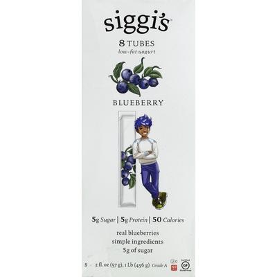 Siggi's Blueberry Low-Fat Yogurt Tubes