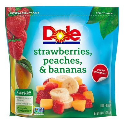 Dole Strawberries, Peaches & Bananas