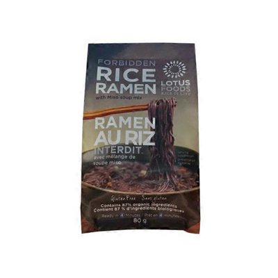 Lotus Fine Foods Forbidden Rice Ramen Miso Soup