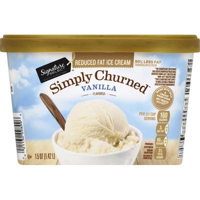 Signature Select Ice Cream, Reduced Fat, Vanilla Flavored