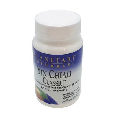 Planetary Herbals Yin Chiao Classic 450 Mg Chinese Compound For Changing Seasons Herbal Supplement Tablets