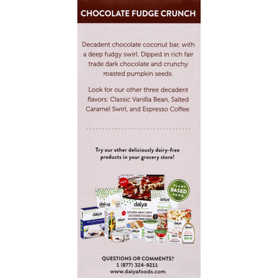 Daiya Frozen Dessert Bars, Chocolate Fudge Crunch
