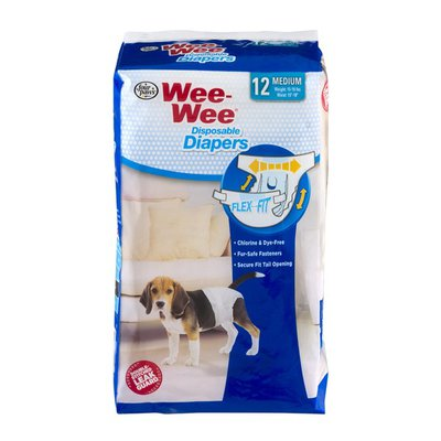 Wee-Wee Disposable Diapers Medium - 12 CT