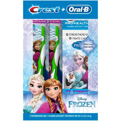 Crest + Oral-B Disney Frozen Toothbrush & Toothpaste Kit