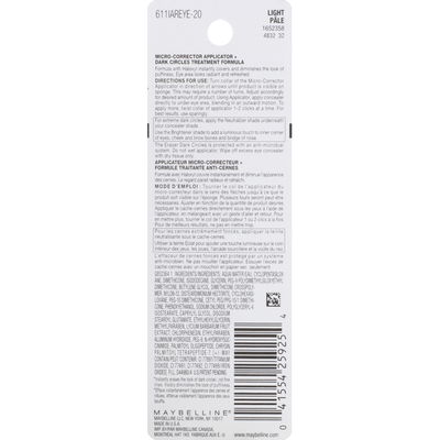 Maybelline Eraser Dark Circles, Light 120