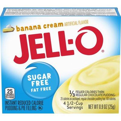 Jell-O Banana Cream Sugar Free & Fat Free Instant Pudding & Pie Filling Mix