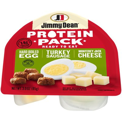 Jimmy Dean Protein Pack, Turkey Sausage, Monterey Jack Cheese, Hard Boiled Egg