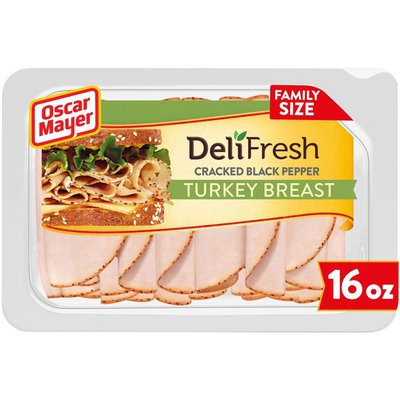 Oscar Mayer Cracked Black Pepper Turkey Breast Sliced Lunch Meat Family Size