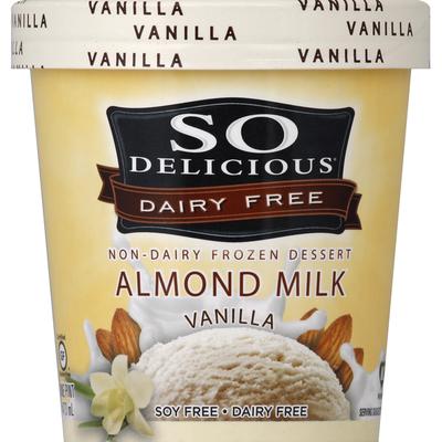 So Delicious Dairy Free Almondmilk Vanilla Frozen Dessert