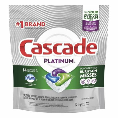 Cascade Platinum Actionpacs Dishwasher Detergent Pods, Fresh