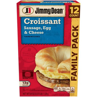 Jimmy Dean ® Sausage, Egg & Cheese Croissant Sandwiches