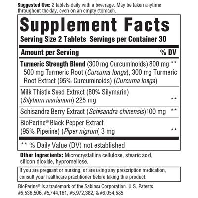 MegaFood Turmeric Curcumin Extra Strength, Liver
