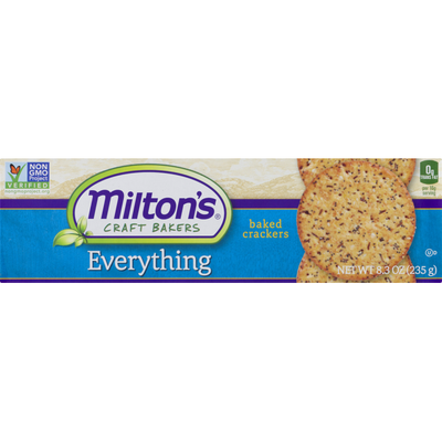 Milton's Craft Bakers Everything Baked Crackers