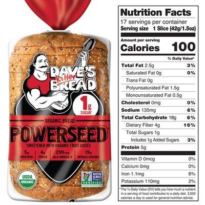 Dave's Killer Bread Powerseed Organic Bread