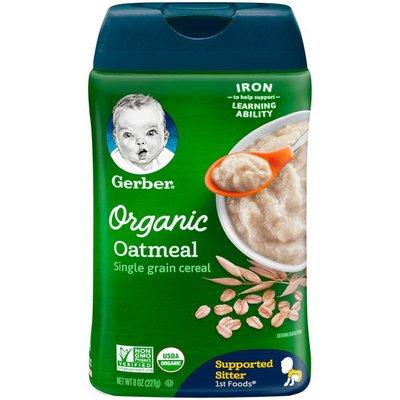 Gerber 1st Foods Organic Single-Grain Oatmeal Baby Cereal