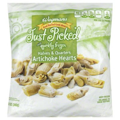 Wegmans Food You Feel Good About Just Picked and Quickly Frozen Halves & Quarters Artichoke Hearts