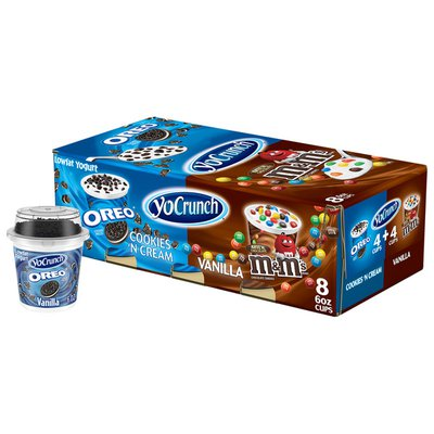 YoCrunch Low Fat Vanilla with OREO and M&Ms Variety Pack Yogurt