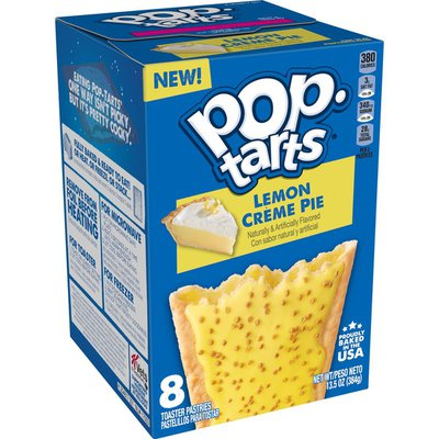 Kellogg's Pop-Tarts Breakfast Toaster Pastries, Frosted Lemon Crème Pie, Bakery Inspired Snack Food