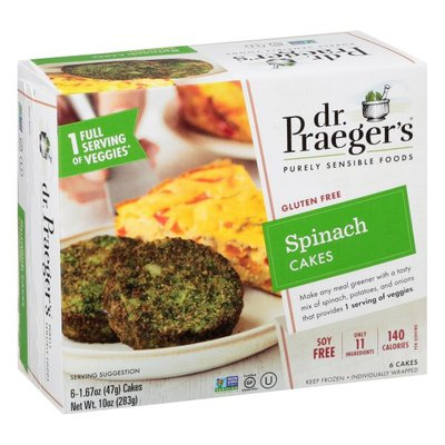 Dr. Praeger's Cakes, Spinach