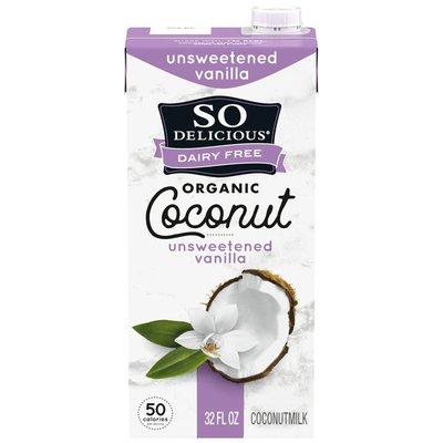 So Delicious Dairy Free Coconut Milk Unsweetened Vanilla