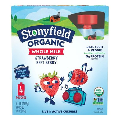 Stonyfield® Organic Strawberry Beet Berry Whole Milk Yogurt