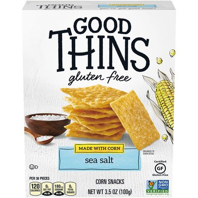 Good Thins Gluten-Free Corn Crackers, Sea Salt Flavor