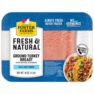 Foster Farms Turkey Breast, 99% Fat Free, Ground