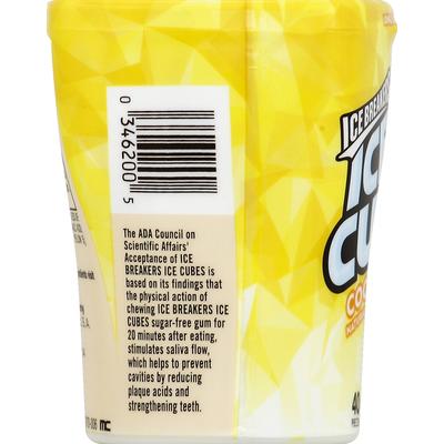 Ice Breakers Ice Cubes Gum Cool Lemon Flavor - 40 PCS