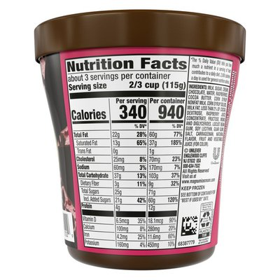 Magnum Ice Cream Tub Double Raspberry